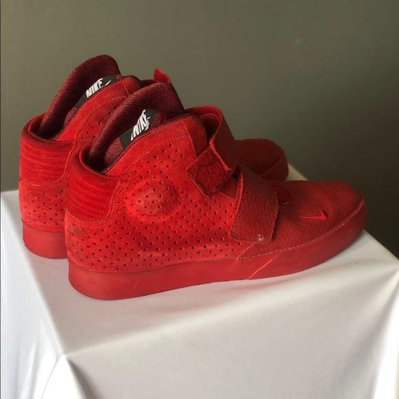 Nike Flystepper 2k3 Red Suede Sneakers